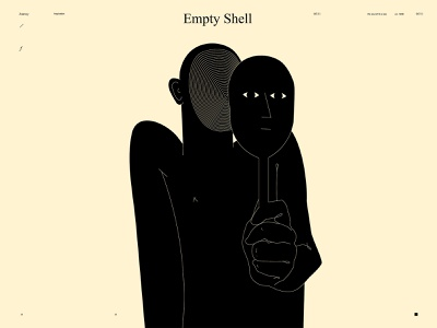 Empty shell artwork ego dual meaning emotional shell figure illustration figure conceptual illustration conceptual art poster art lines poster layout laconic illustration composition abstract minimal
