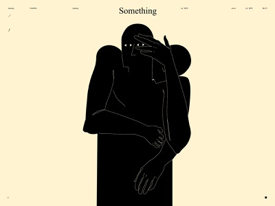 Something lost hand illustration figure illustration figure lines poster laconic illustration composition abstract minimal
