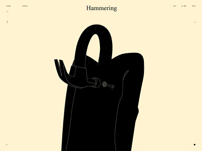Hammering dual meaning conceptual illustration brain nail heart hammer design lines poster laconic illustration composition abstract minimal