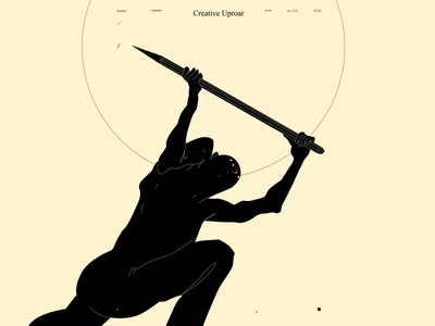 Creative uproar figure illustration figure war art pencil design lines poster laconic illustration composition abstract minimal
