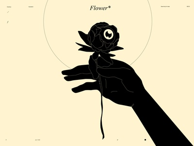 Flower* prints editorial conceptual illustration flower illustration flower hand illustration hand eye illustration eye design lines poster laconic illustration composition abstract minimal