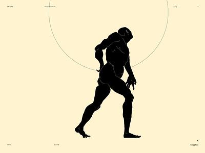 Sisyphus sysiphus dual meaning conceptual illustration minimal art stone body figure illustration figure design lines poster laconic illustration composition abstract minimal