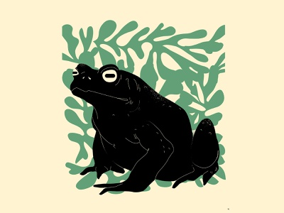 Frog forest abstract background grunge texture grunge frog illustration frog design lines poster laconic illustration composition abstract minimal