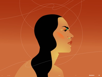 Daily swim girl portrait girl illustration vector portrait portrait art portrait illustration portrait lines poster laconic illustration composition abstract minimal