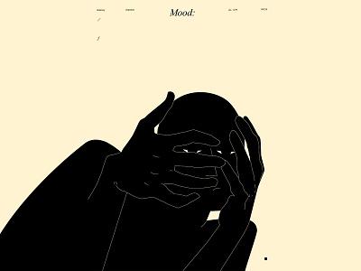 Mood mood hand illustration hand figure illustration figure design lines poster laconic illustration composition abstract minimal