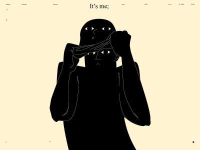 It's me minimal art dual meaning taking of conceptual illustration figure illustration figure mask thief design lines poster laconic illustration composition abstract minimal