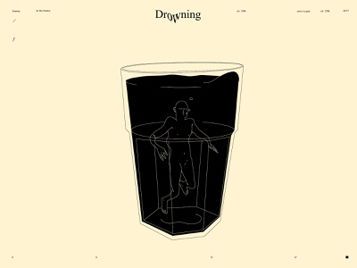 Drowning figure illustration figure dual meaning glass illustration glass conceptual illustration drowning drown design lines poster laconic illustration composition abstract minimal