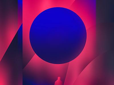 Fragment 26 grandient neon man circle