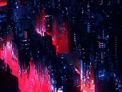 Fragment 67 street night city glitch effect glitchart glitch abstract