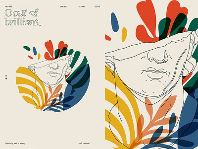 Empty Headed floral pattern floral head sculpture grid fragment layout poster art poster challenge poster a day form lines poster illustration laconic composition abstract minimal