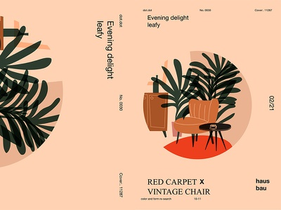 Vintage Chair floral pattern leaf coffee table carbet chair grid circle layout poster art poster challenge poster a day form lines poster illustration laconic composition abstract minimal