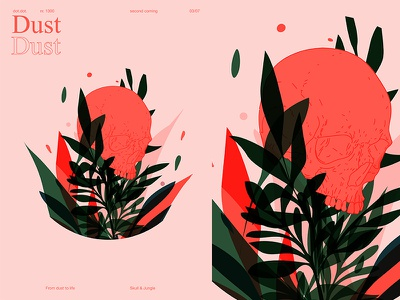 Dust skull art grid floral background floral skull fragment layout poster art poster challenge poster a day lines poster illustration laconic composition abstract minimal