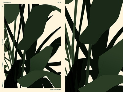 Plant Fragment floral background floral design floral art tropical leaves layout fragment poster art poster challenge poster a day lines form poster illustration laconic composition abstract minimal