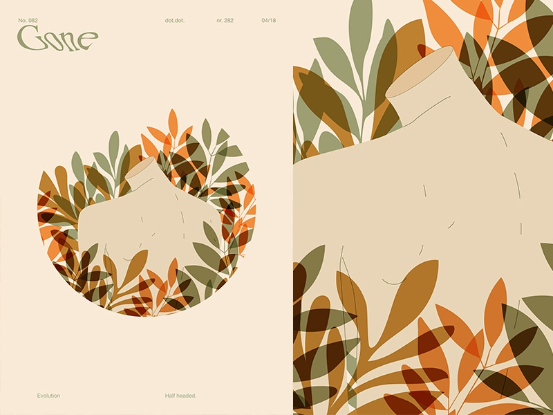 Gone design flowers floral background floral girl grid fragment layout poster art poster challenge poster a day form lines poster illustration laconic composition abstract minimal
