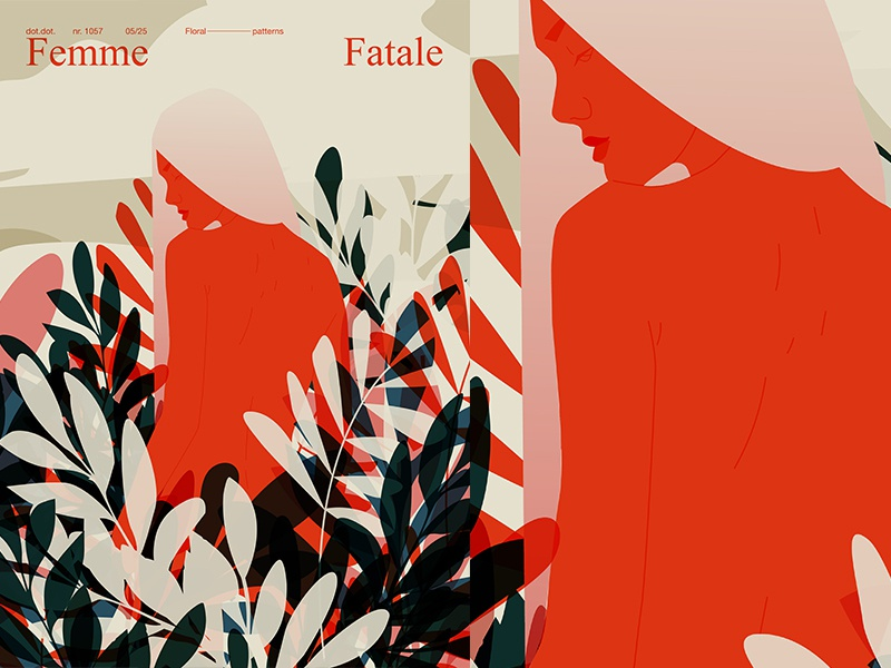 Girl And Nature body floral background floral grid girl layout fragment poster art poster challenge poster a day form lines poster illustration laconic composition abstract minimal