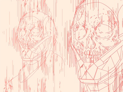 Death Stranding line art glitch effect glitch art glitchart glitch helmet space astronaut skull poster art poster challenge poster a day form lines poster illustration laconic composition abstract minimal