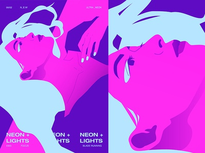 Neon Lights ultraviolet neon girl grid layout fragment poster art poster challenge poster a day form lines poster illustration laconic composition abstract minimal