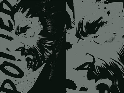Power keanu reeves duotone portrait power splash ink man fragment poster art poster challenge poster a day form lines poster illustration laconic composition abstract minimal
