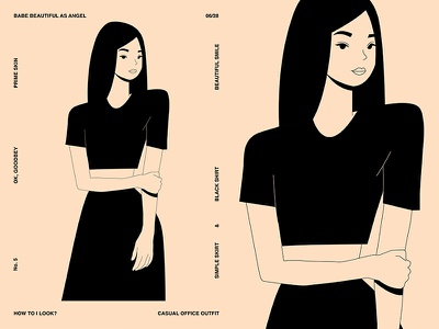 Casual Outfit girl illustration girl character vector charecter design girl layout fragment poster art poster challenge poster a day form lines poster illustration laconic composition abstract minimal
