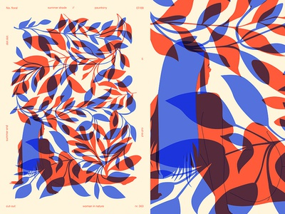 Summer Shade V2 shade girl illustration floral background floral grid girl layout fragment poster art poster challenge poster a day form lines poster illustration laconic composition abstract minimal