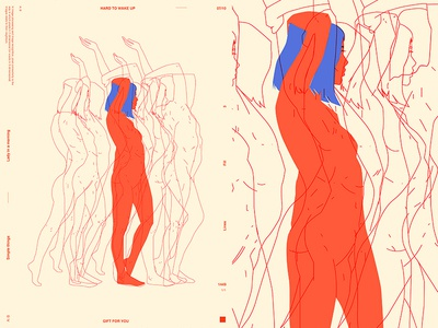 Moving moving body girl illustration woman illustration figure girl layout fragment poster art poster challenge poster a day form lines poster illustration laconic composition abstract minimal