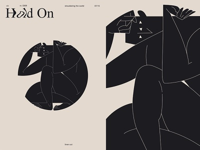 World Hold On cut man illustration circle body man grid layout fragment poster art poster challenge poster a day form lines poster illustration laconic composition abstract minimal