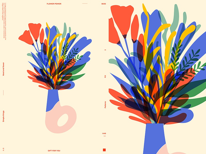 B Vase vase flowers floral background floral layout fragment poster art poster challenge poster a day form lines poster illustration laconic composition abstract minimal