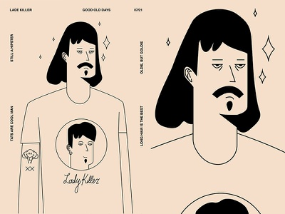 Lady Killer hipster character illustration charecter design character man layout fragment poster art poster challenge poster a day form lines poster illustration laconic composition abstract minimal