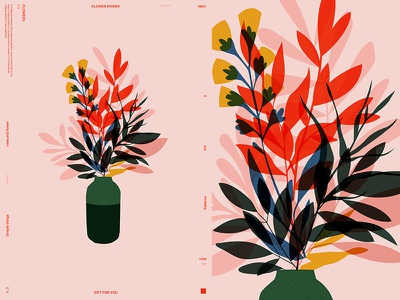 Simple Flowers flowers floral background floral layout fragment poster art poster challenge poster a day form lines poster illustration laconic composition abstract minimal