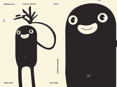 Goodbey  Sir goodbey creature design creature layout fragment poster art poster challenge poster a day form lines poster illustration laconic composition abstract minimal