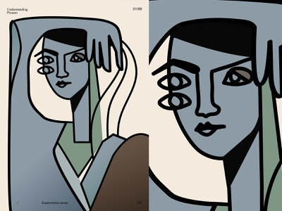 Study of Picasso portrait woman portrait woman study picasso girl fragment poster art lines poster laconic illustration composition abstract minimal