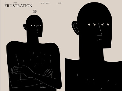 Frustration conceptual frustraction man illustration man poster art lines poster laconic illustration composition abstract minimal