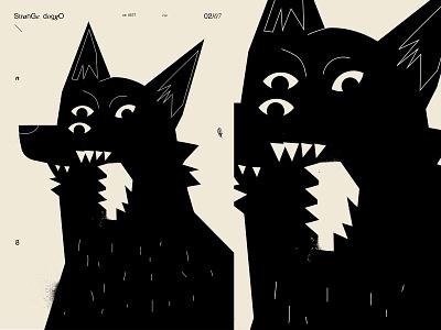 Strange dog dog illustration eye blackandwhite strange dog poster art lines poster laconic illustration composition abstract minimal