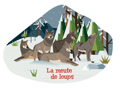 Wolf Pack wapiti ai vector milan-presse poster wolves