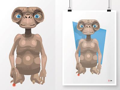 E.T. the Extra-Terrestrial arte 1982 e.t. the extra-terrestrial fanart spielberg e.t