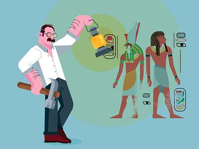 Howard Carter tutankhamun carter egypt press vector .ai portrait