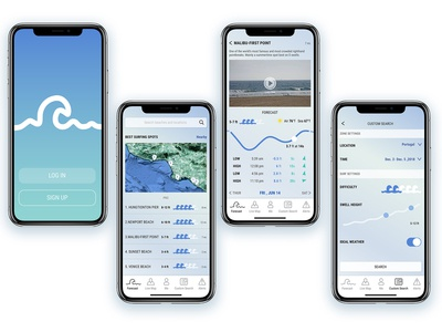 Surfing App Design