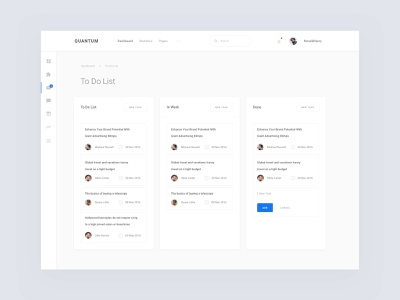 To Do List Dashboard dashboard template download freebies freebie free