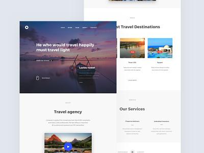 Travel Agency Template landing download freebies freebie free