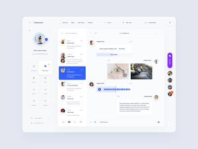 Messenger Dashboard adobe xd
