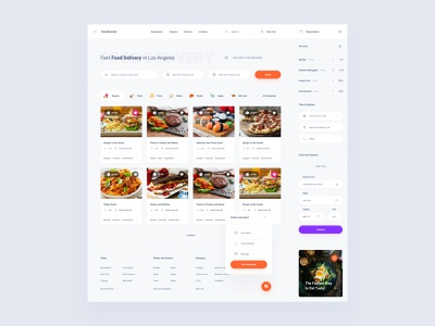 Food Delivery Dashboard adobe xd