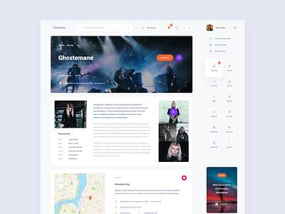 Events Dashboard figma ui sketch ux download ui kit design web dashboard