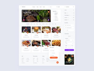 Food Delivery Dashboard components figma design web dashboard ui sketch ux download ui kit