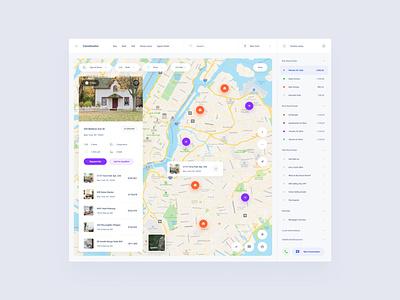 Real Estate Template symbols components figma design web dashboard ui sketch ux download ui kit