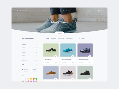 Store Shoes Template components figma web dashboard ui sketch ux download ui kit