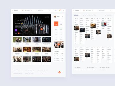 Cinema Online Dashboard components figma design web dashboard ui sketch ux download ui kit