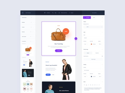 Email Builders commerce design web ui sketch ux download ui kit