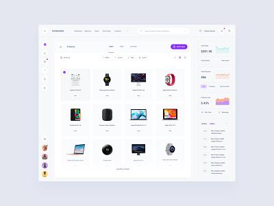 Commerce Dashboard Template components figma web dashboard ui sketch ux download ui kit