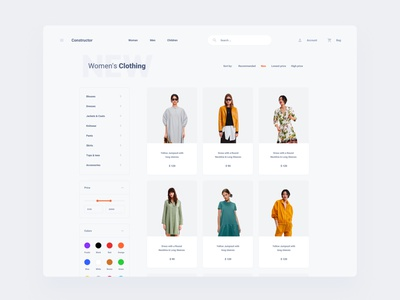 Clothing Store Template components figma design web dashboard ui sketch ux download ui kit
