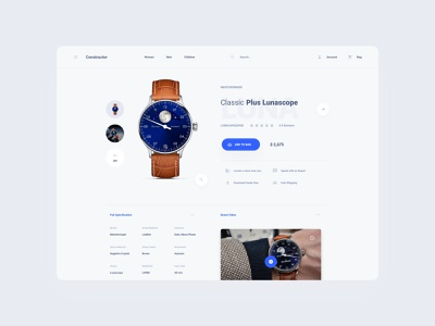 Watch Commerce Template components figma design web dashboard ui sketch ux download ui kit